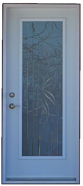 Porte d'acier vitrée 2
